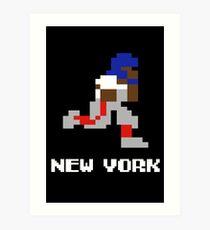 8 bit New York Football 1 Art Print
