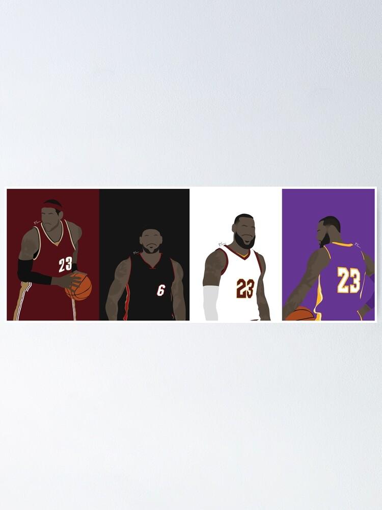 Alternate view of LeBron James Career Poster