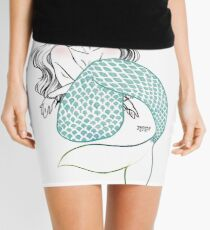 Minty Mermaid Mini Skirt