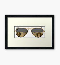 Anchor Down Black Sunglasses Framed Print