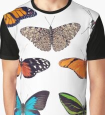 Butterfly collection isolated on White background Graphic T-Shirt