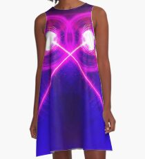 Trance in Stereo A-Line Dress