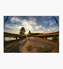 Sunset looking down bridge  Photographic Print