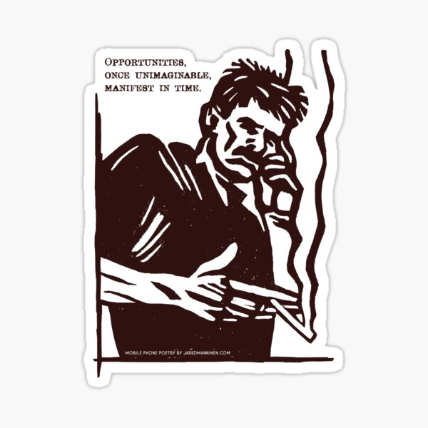 Mobile Phone Poetry Sticker