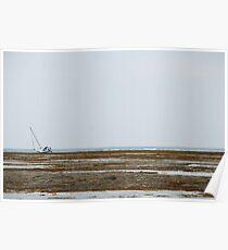 Shipwreck on Anticosti Island, Canada Poster