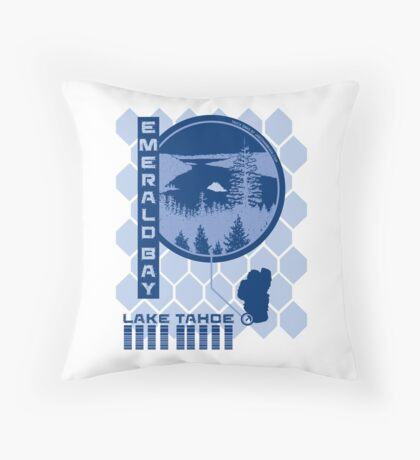 Emerald Bay (Through the Looking Glass) Throw Pillow