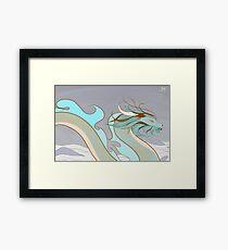 Light Blue Dragon Framed Print