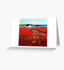Orange Roof, Barra Greeting Card