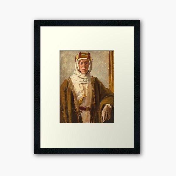 Lawrence of Arabia. Colonel T. E. Lawrence. Augustus John. 1919. Framed Art Print