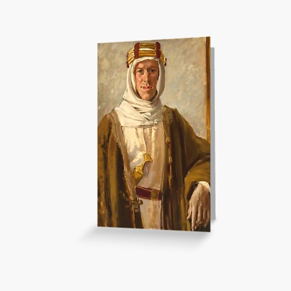 Lawrence of Arabia. Colonel T. E. Lawrence. Augustus John. 1919. Greeting Card
