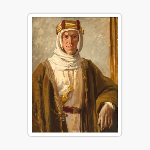 Lawrence of Arabia. Colonel T. E. Lawrence. Augustus John. 1919. Sticker