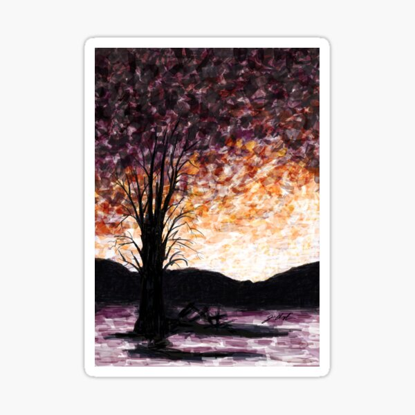 Washoe Meadows State Park Sunset Sticker