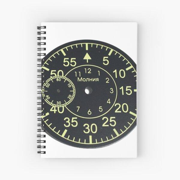 Old Russian stopwatch's dial Циферблат старинного русского секундомера  Spiral Notebook