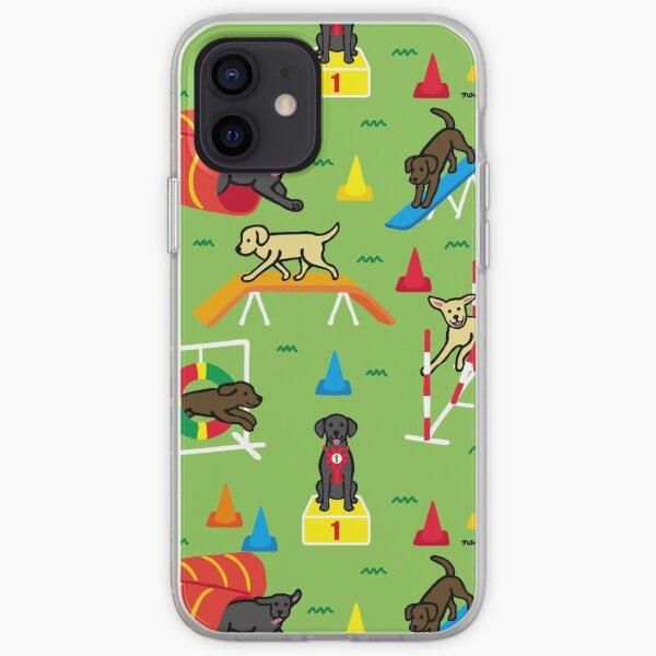Happy Labrador Agility Cartoon iPhone Soft Case
