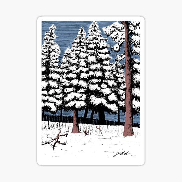 Backyard Snowfall Sticker