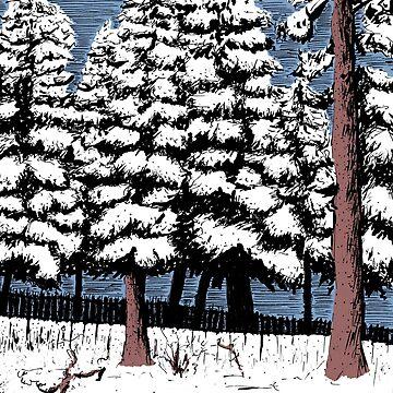 Backyard Snowfall by JaredManninen