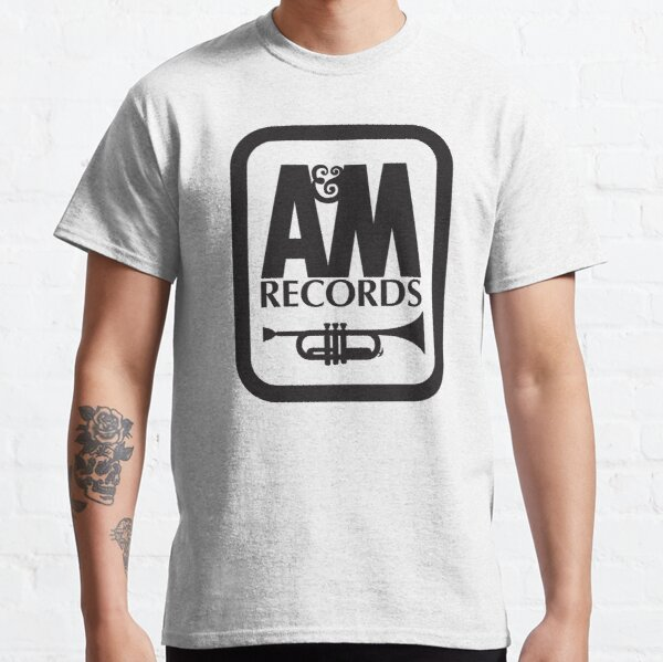 A&M RECORDS T-SHIRT Defunct Record Label Shirt - White Version Classic T-Shirt
