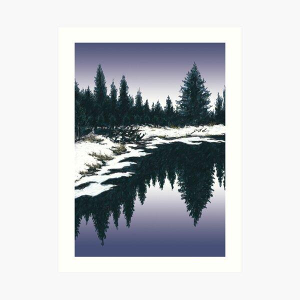 Upper Truckee River Sunset Art Print