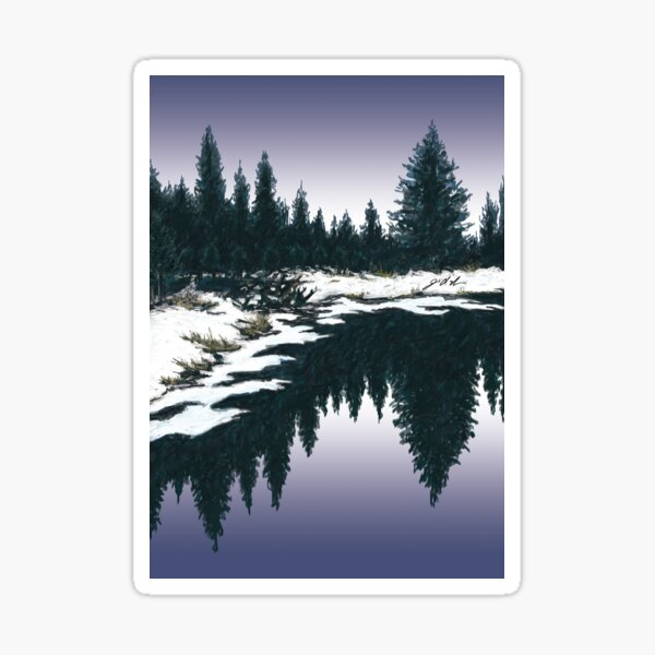 Upper Truckee River Sunset Sticker