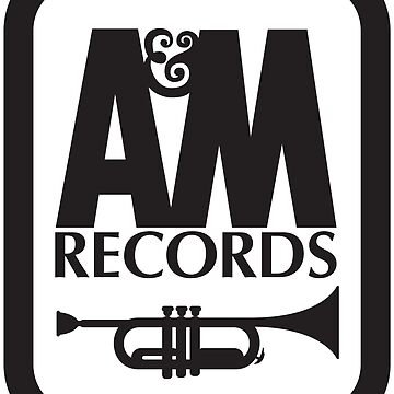 A&M RECORDS T-SHIRT Defunct Record Label Shirt - White Version by darkvortex