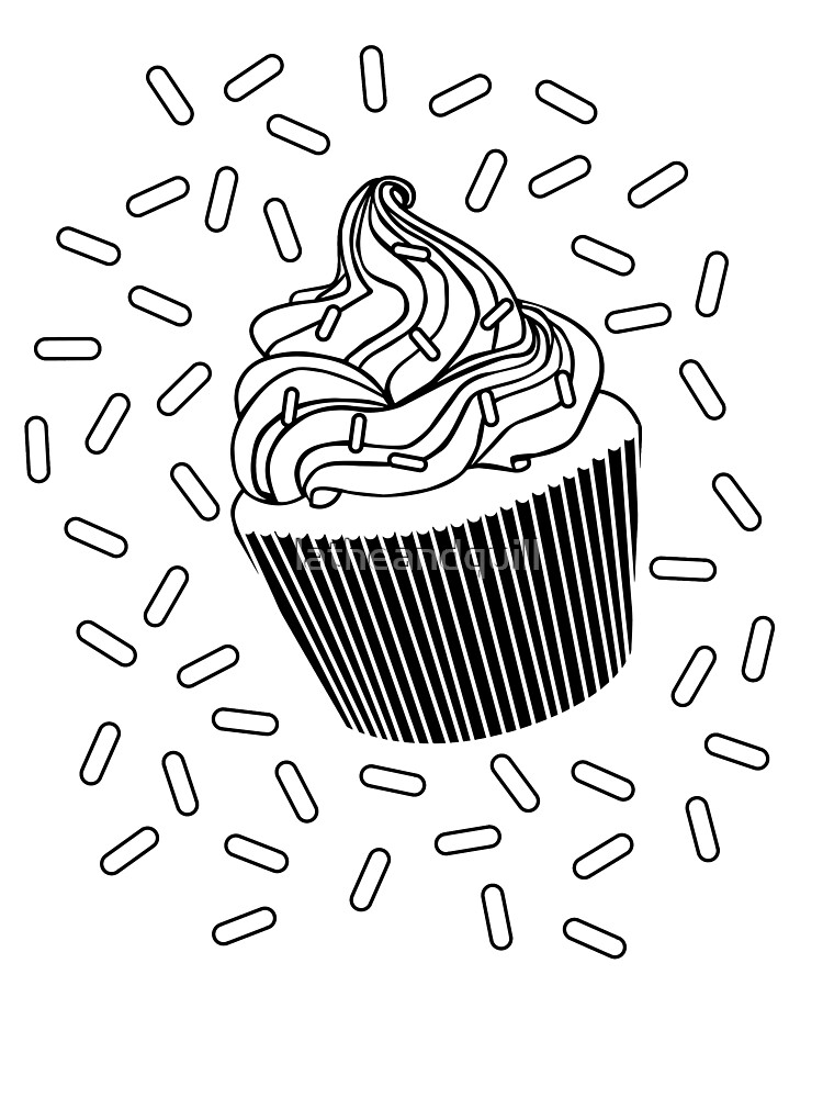 - Coloring Book Cupcake And Sprinkles