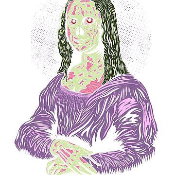 Zombie Mona Lisa Funny Graphic Art Design by GetHoppedWV