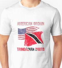 American Grown Trinidadian Roots Patriotic  Unisex T-Shirt