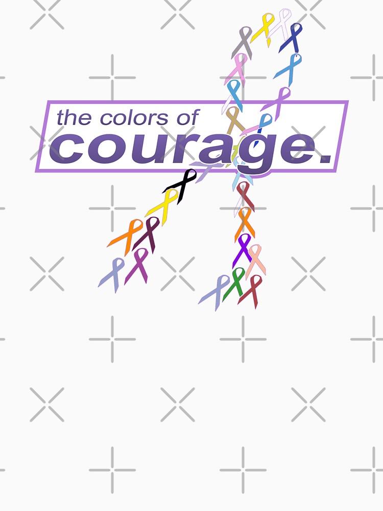 The Colors of Courage Cancer Awareness Ribbons Illustration by hobrath