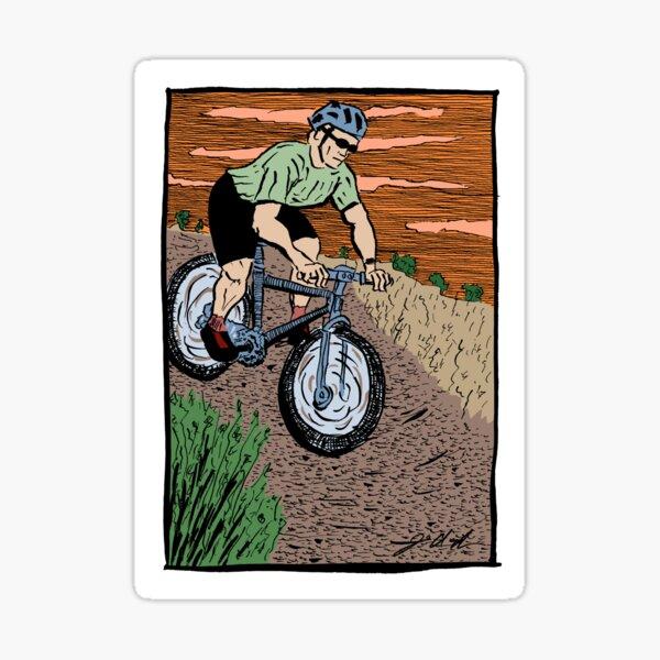 Mountain Biking On Corral Loop Sticker