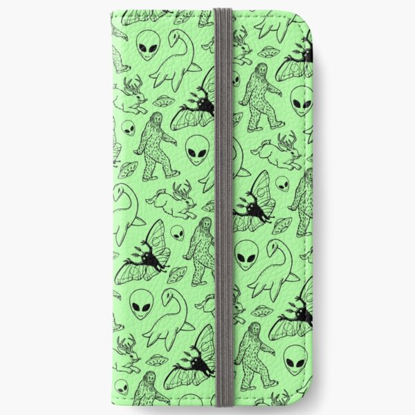 Cryptid Pattern (Green Background) iPhone Wallet