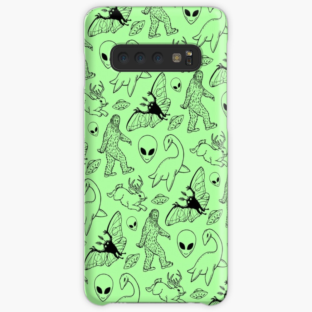 Cryptid Pattern (Green Background) Case & Skin for Samsung Galaxy
