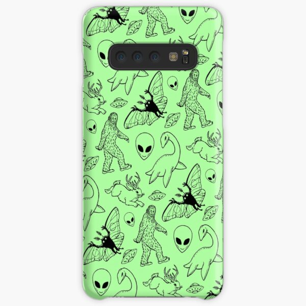 Cryptid Pattern (Green Background) Samsung Galaxy Snap Case