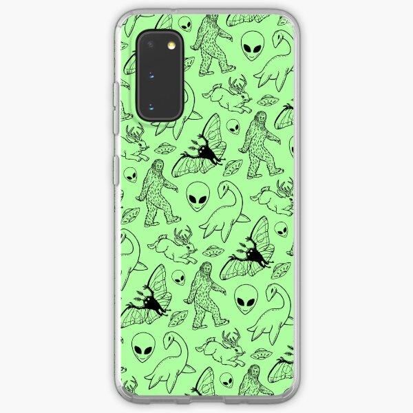 Cryptid Pattern (Green Background) Samsung Galaxy Soft Case