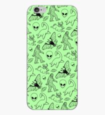Cryptid Pattern (Green Background) iPhone Case