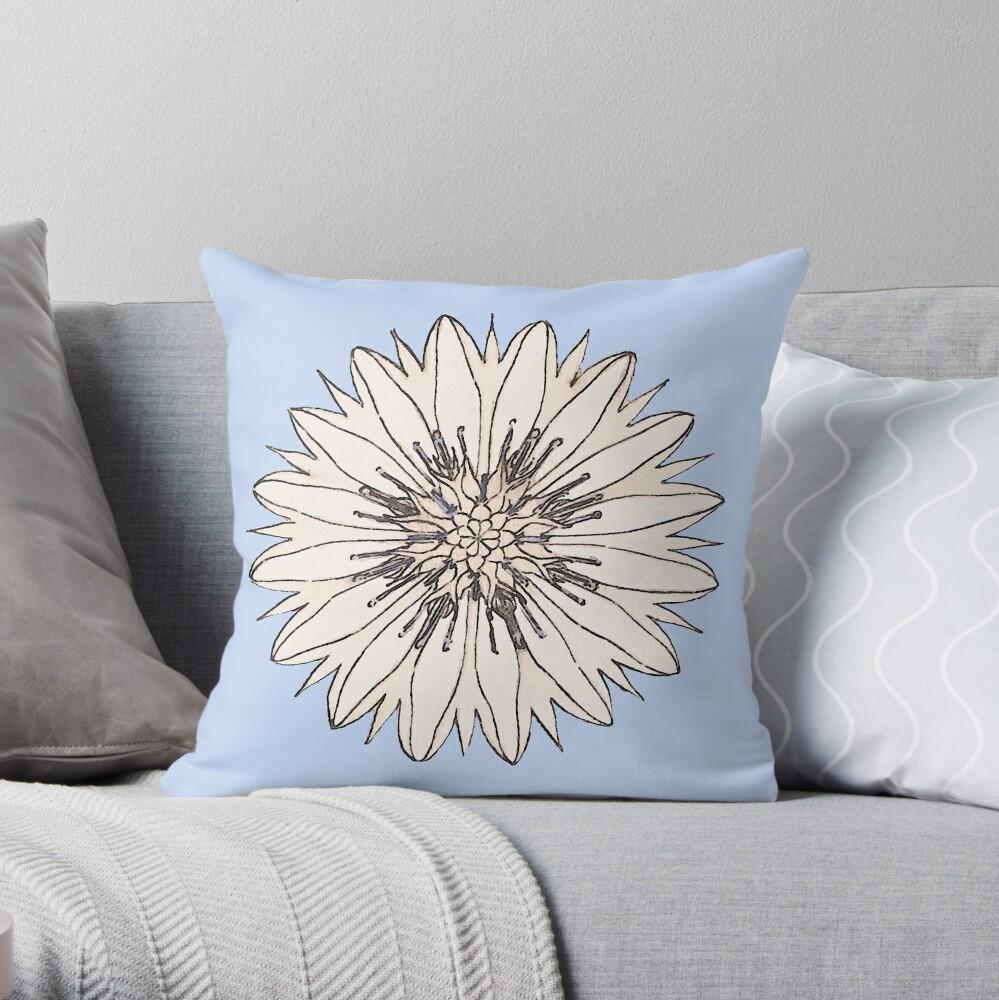 Cornflower Throw Pillow