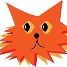 Furry Rascals, Fluffy Orange Cat by witandwhimsey
