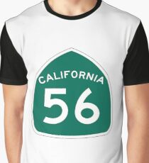 California State Route 56 Graphic T-Shirt