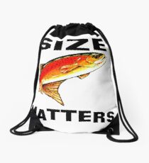 Size Matters Yellowstone Cutthroat Trout Char Fishing Fish Fly Jackie Carpenter Dad Father Husband Sports Rocky Mountain Gift Ideas Drawstring Bag