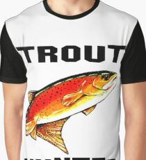 Trout Hunter Yellowstone Cutthroat Trout Char Fish Fishing Fly Gift Idea Father Dad Husband Rocky Mountain Jackie Carpenter Graphic T-Shirt