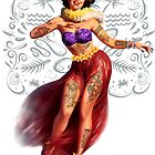 Metro&medio Designs - Tattoed hula dancer Pin-up by metroymedio