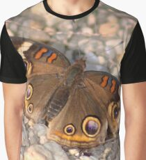 Common Buckeye on the Rocks Graphic T-Shirt