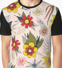 funky vintage floral Graphic T-Shirt