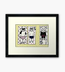 Summer is here - let's head on down to the kitten beach! Framed Print