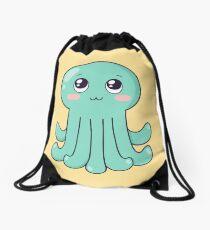 cute baby octopus Drawstring Bag