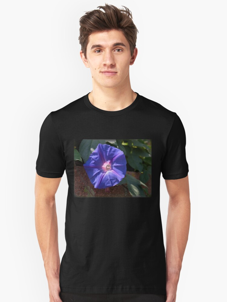 Alternate view of Morning Glory from A Gardener's Notebook Slim Fit T-Shirt
