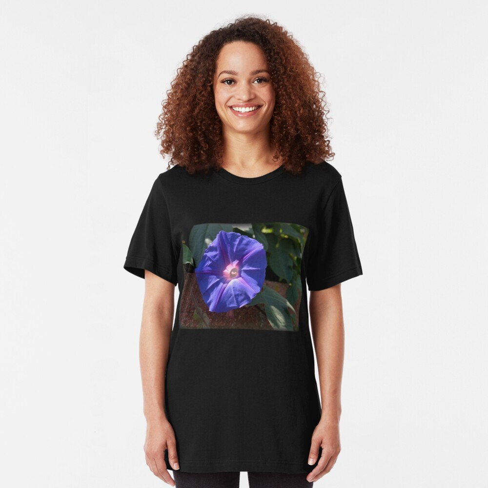 Morning Glory from A Gardener's Notebook Slim Fit T-Shirt