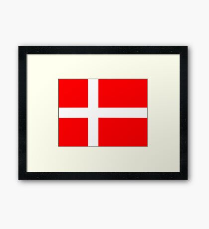 Denmark, national id Framed Print