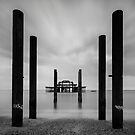 West Pier Pillars by Peter Clarke
