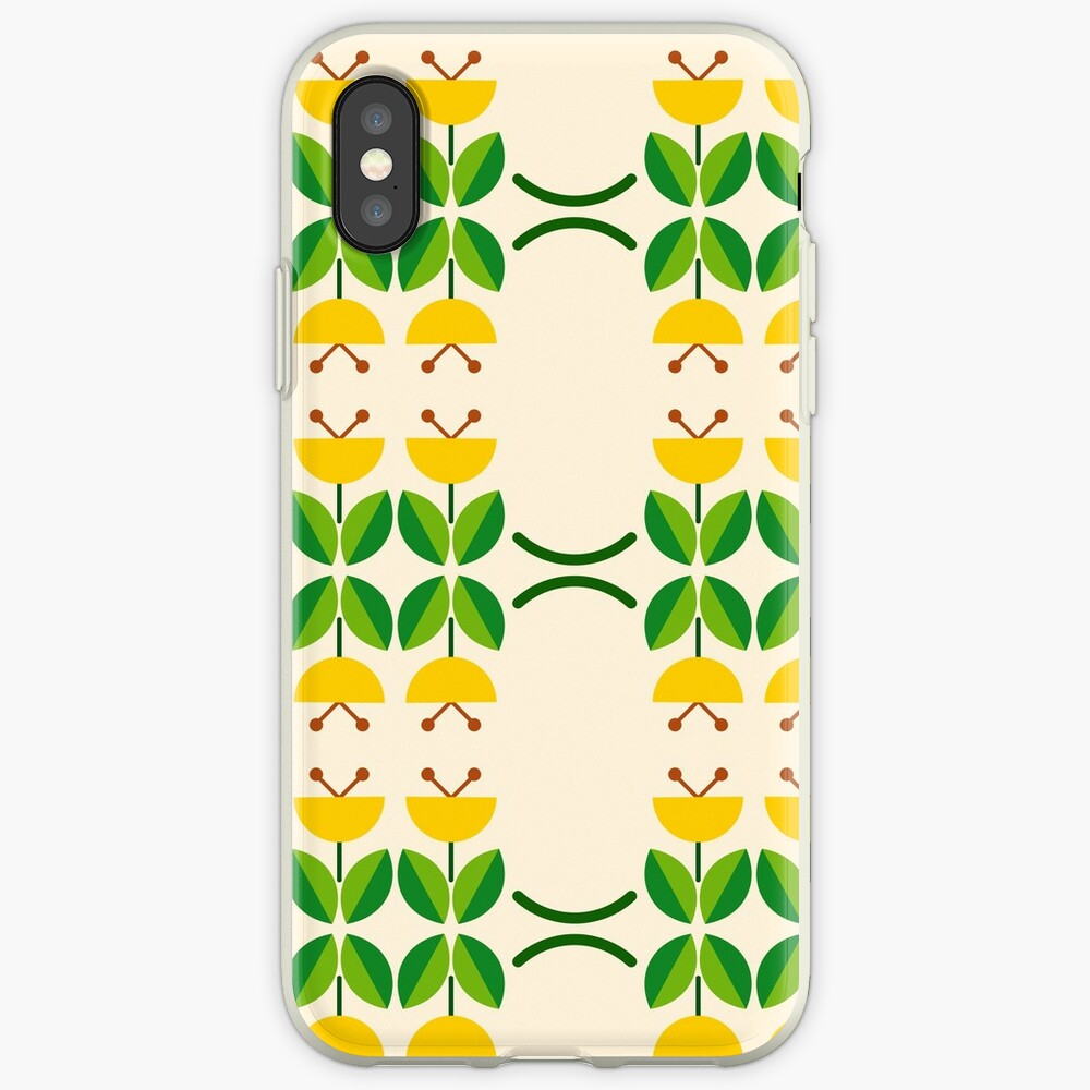 flat design floral beauty seamless colorful repeat pattern iPhone Case & Cover