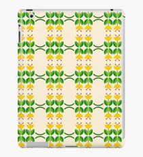 flat design floral beauty seamless colorful repeat pattern iPad Case/Skin